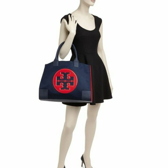 946b2244b919d Tory Burch Nylon Ella Colorblock Tote